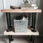 DIY Industrial End Tables