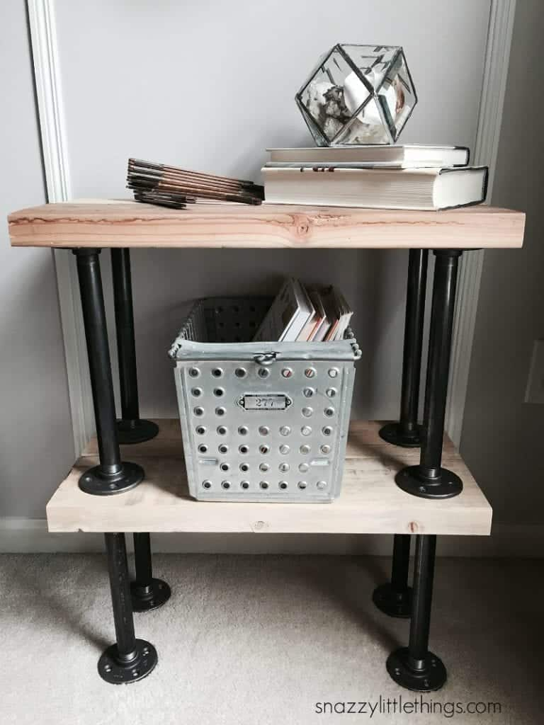 DIY Industrial End Tables