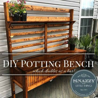 DIY: Potting Bench for $75!!