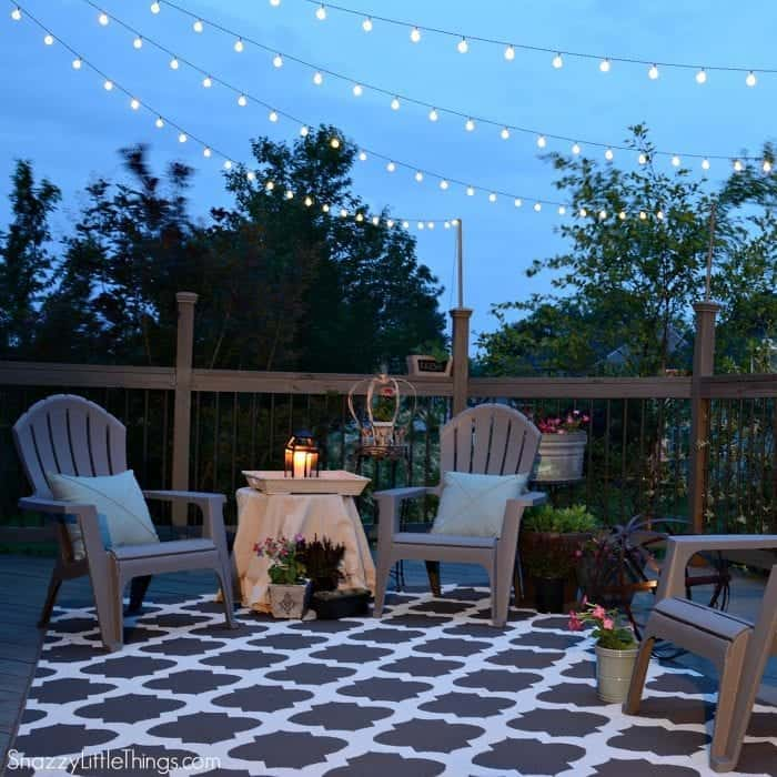 Budget Outdoor Hacks - Solar Lighting | By SnazzyLittleThings.com