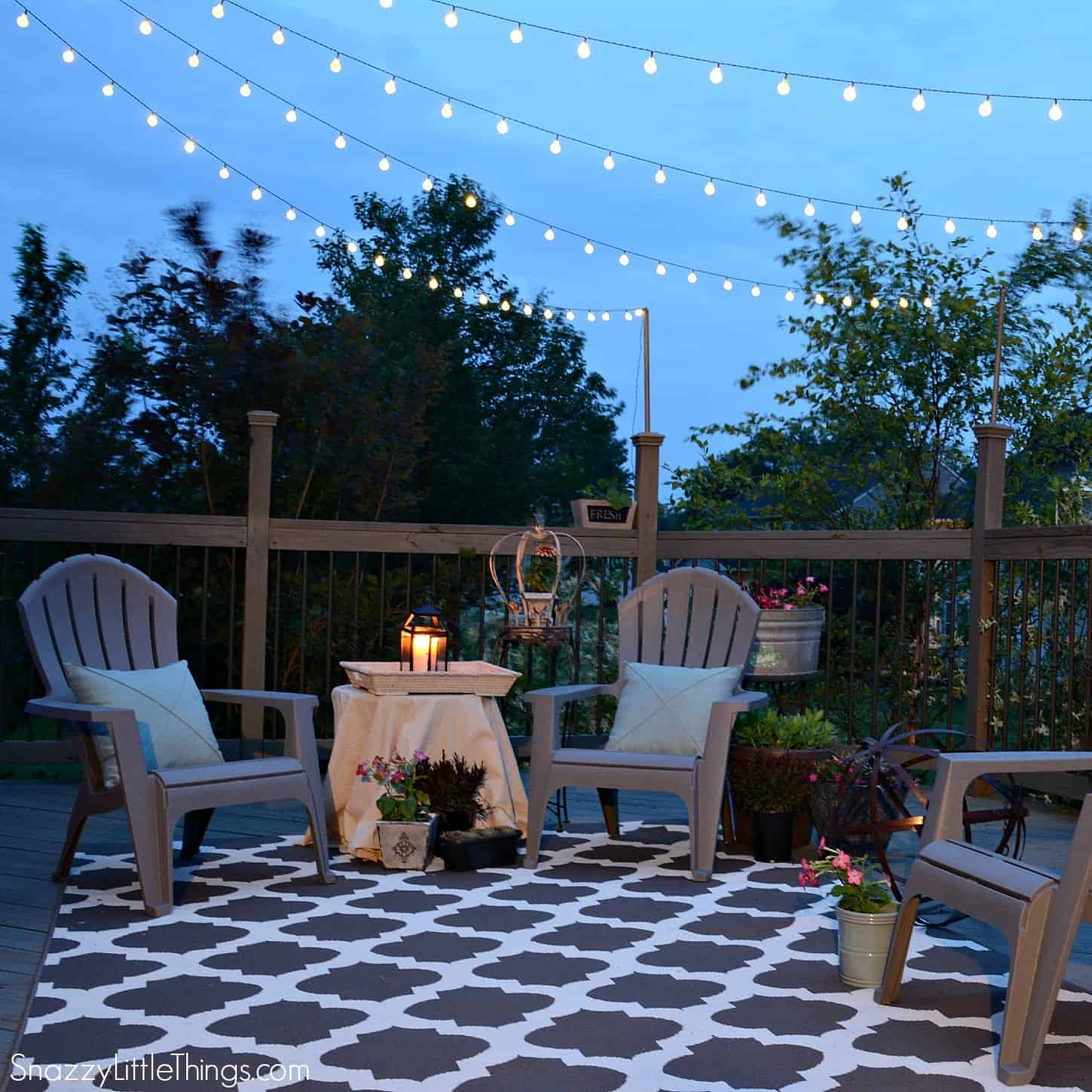Budget outdoor hacks and ideas for Outdoor decorating hacks