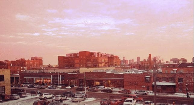 Detroit out of my window, by Kaitie Stretch