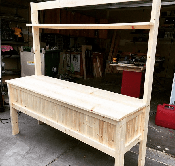 Potting Bench Free Plans 3 by SnazzyLittleThings.com