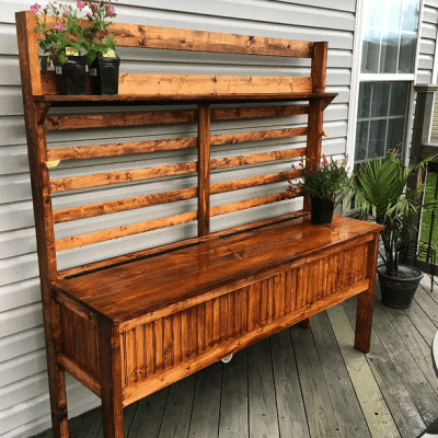 DIY: Potting Bench Woodworking Plans