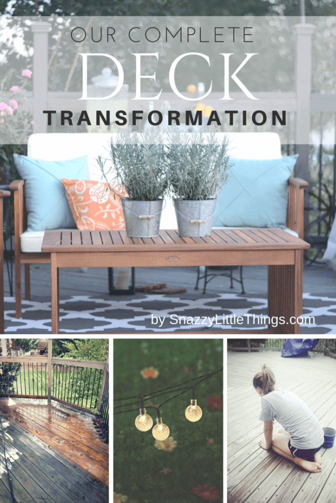 Our Complete Deck Transformation by SnazzyLittleThings.com