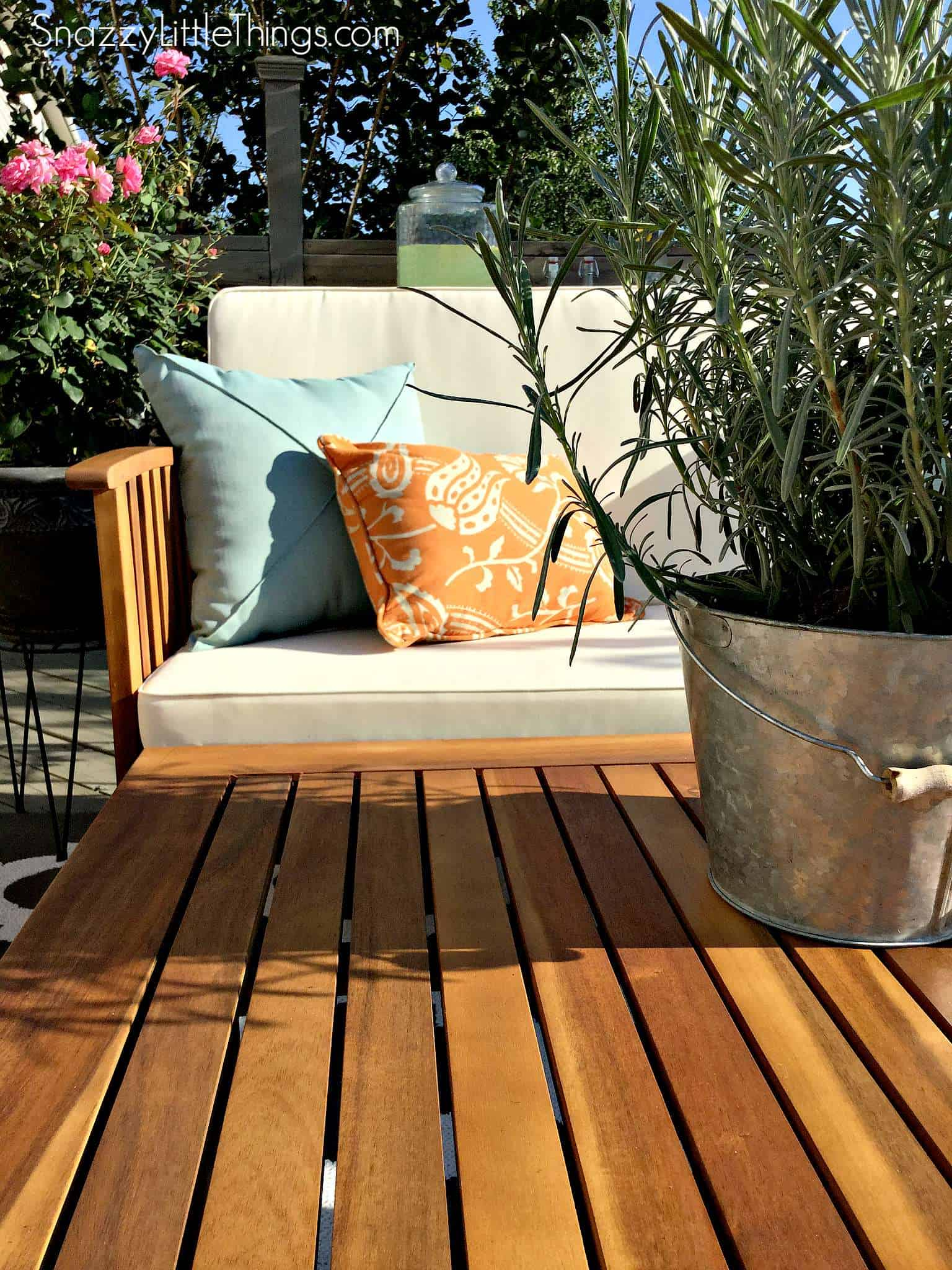 our deck before u0026 after snazzy little things
