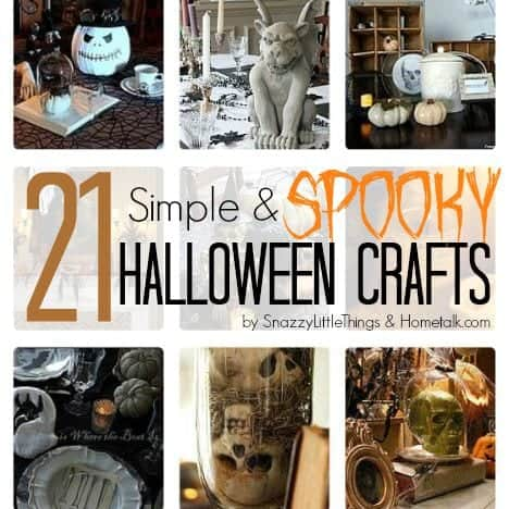 21 Simple & Spooky Halloween Crafts by SnazzyLittleThings.com