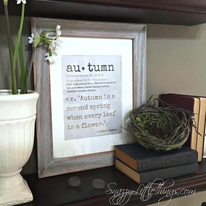 """Autumn"" Printable - Fall Home Tour 2015"