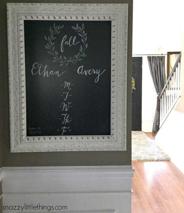 Fall Home Tour 2015 - Chalkboard Schedule