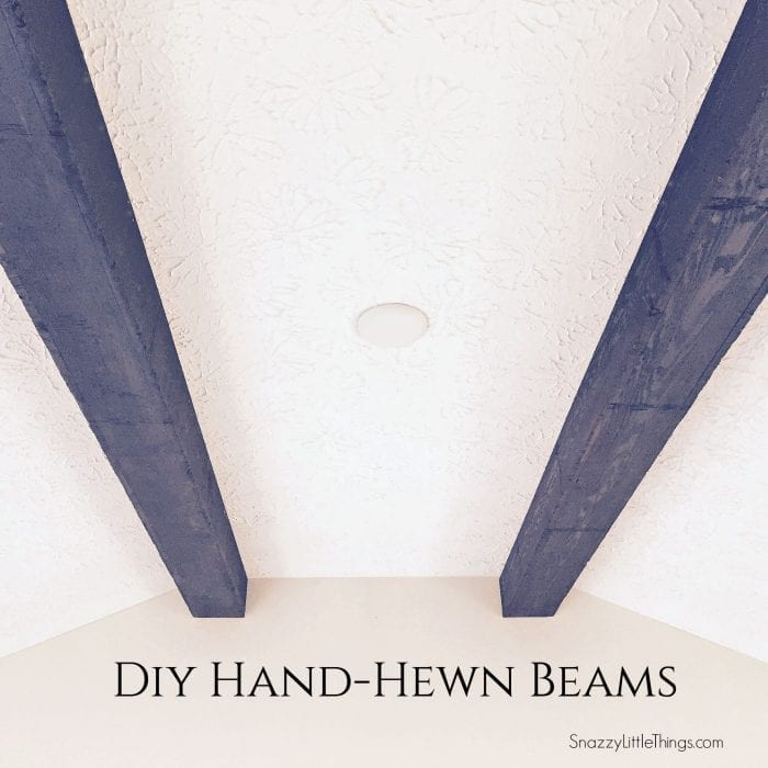 DIY Wood Beams by SnazzyLittleThings.com