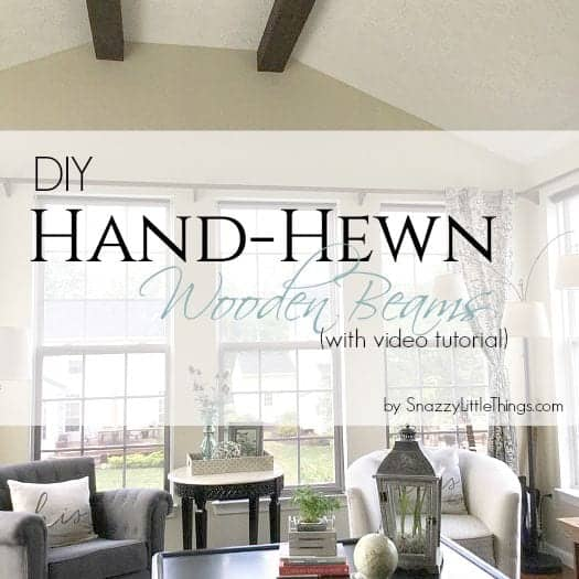 Ceiling Wood Beams DIY by SnazzyLittleThings.com