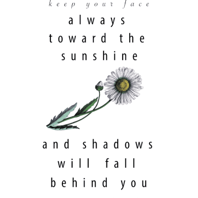Walt Whitman Sunshine & Shadows Printable by SnazzyLittleThings.com