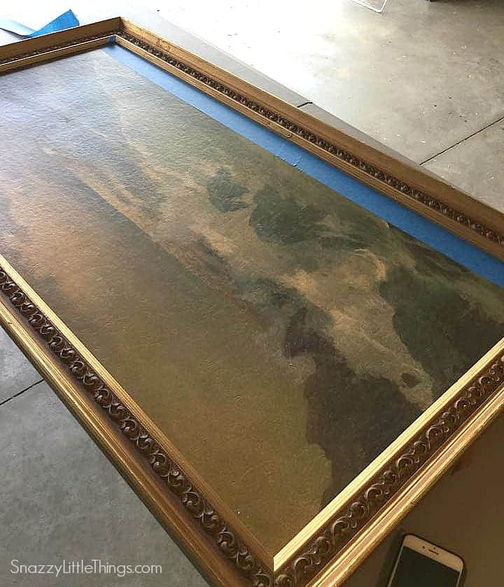 Upcycling Art Painting the Frame