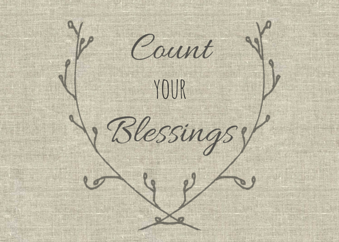 5x7 Art -Count Your Blessings- - to frame