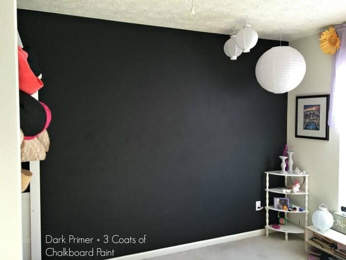 After Dark Primer + 3 Coats Chalkboard Paint