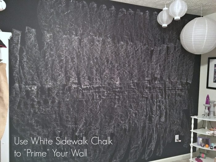 how to paint a chalkboard wall. Black Bedroom Furniture Sets. Home Design Ideas