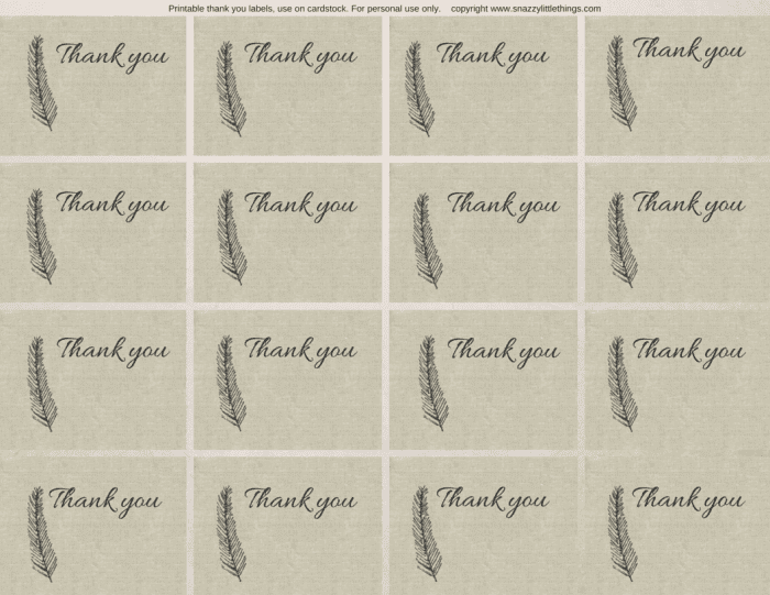 Thank you feather cards
