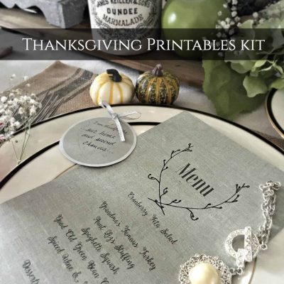 Thanksgiving Printables Kit 2