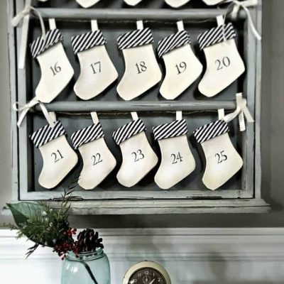 Advent Calendar Repurposed by SnazzyLittleThings.com