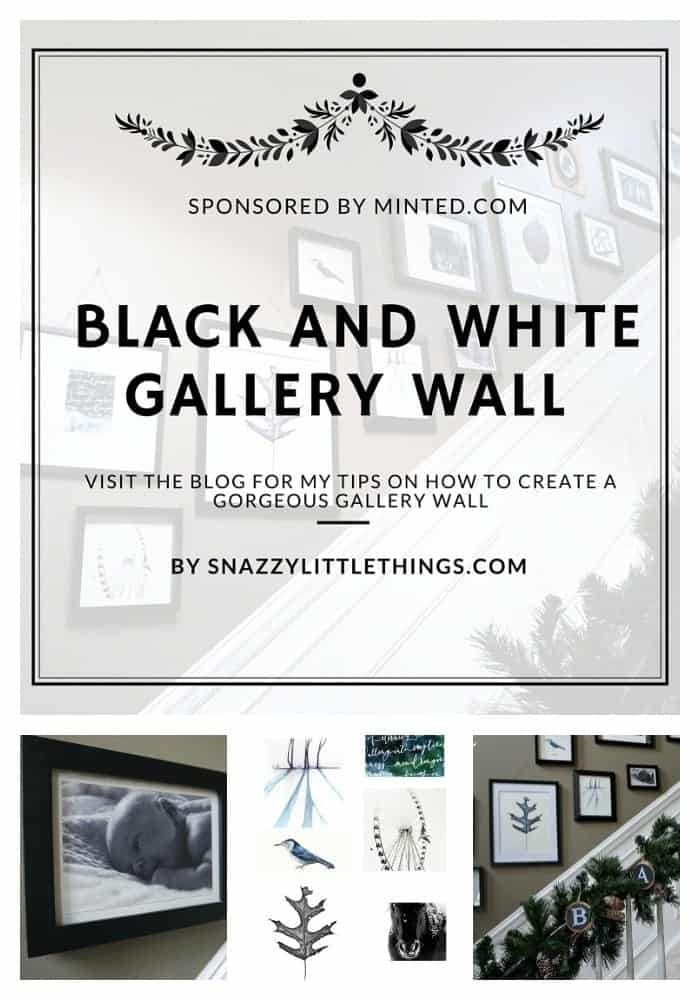 DIY Gallery Wall by SnazzyLittleThings.com and Minted.com