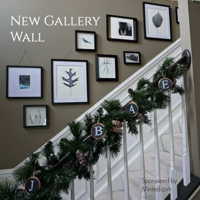 Gallery Wall Feature, Holiday Home Tour 2015 by SnazzyLittleThings.com