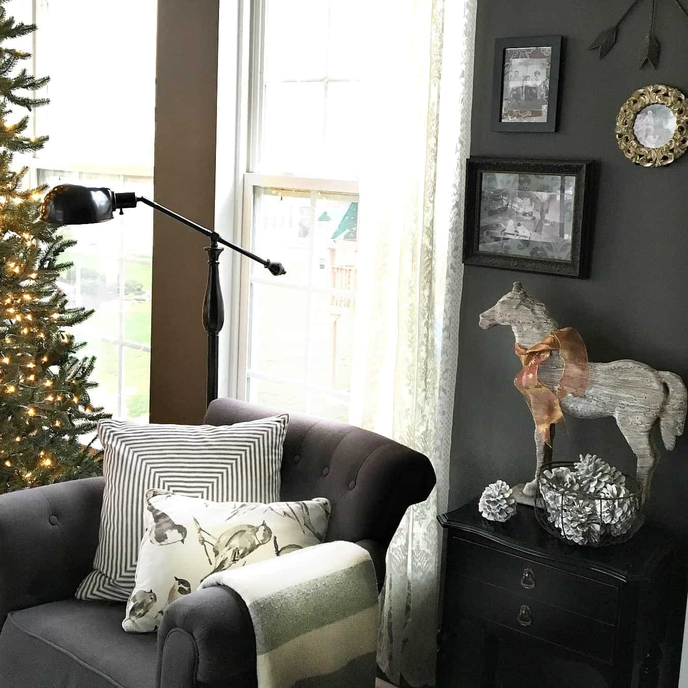 Kendall Charcoal Painted Sunroom