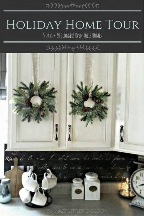 Come Visit my Holiday Home Tour 2015   by SnazzyLIttleThings.com