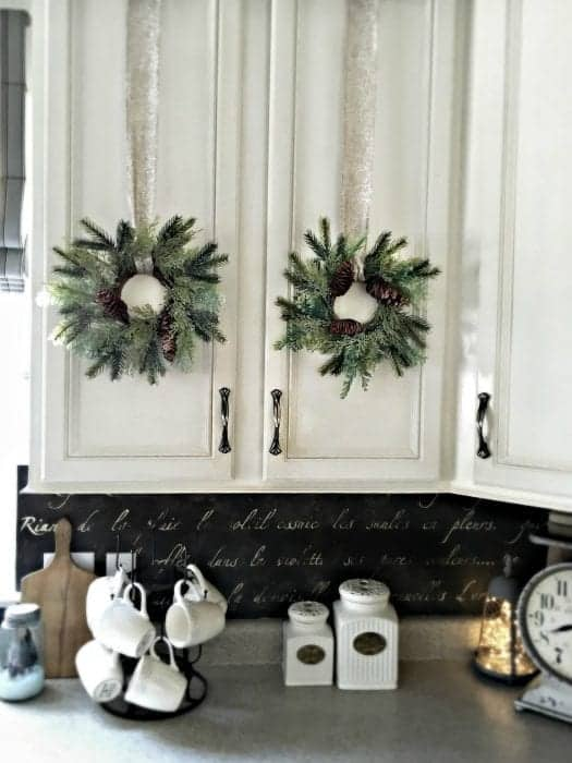 Kitchen Wreaths, Holiday Home Tour 2015 by SnazzyLittleThings.com