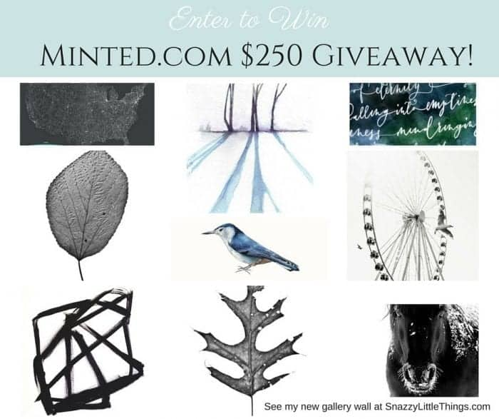 Minted.com $250 Giveaway at SnazzyLittleThings.com