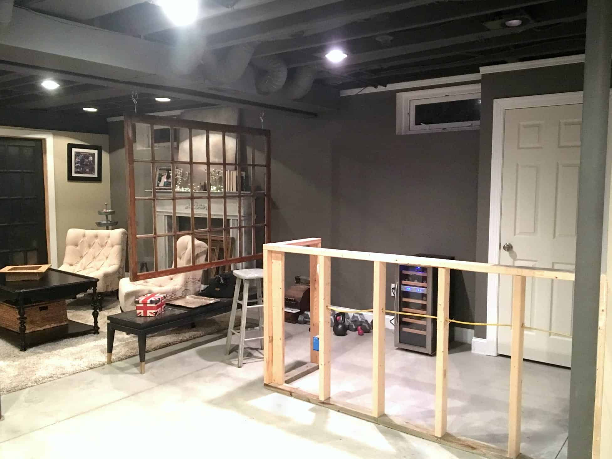 Diy decor industrial basement remodel - Unfinished basement design ...