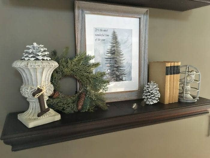 Woodland Vignette, Holiday Home Tour 2015 by SnazzyLittleThings.com