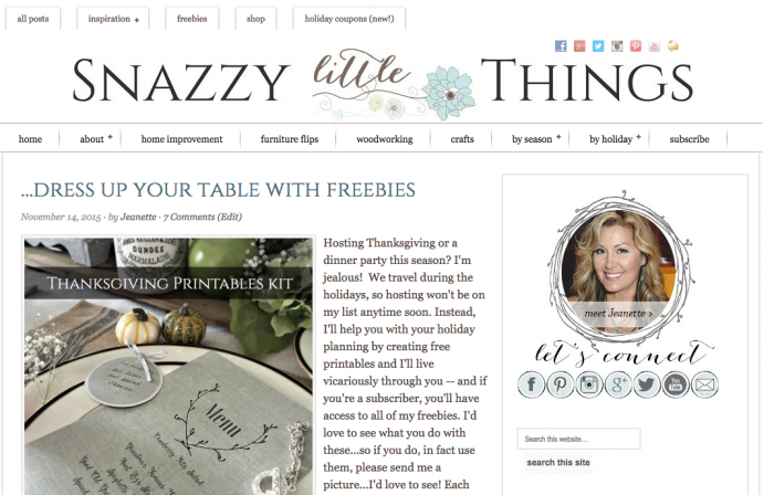 Snazzy Little Things Customized Innov8tive theme