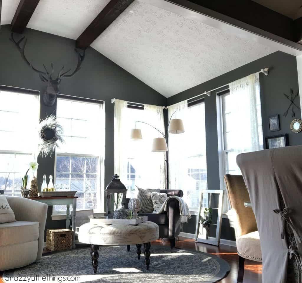 Sunroom with Deer Head