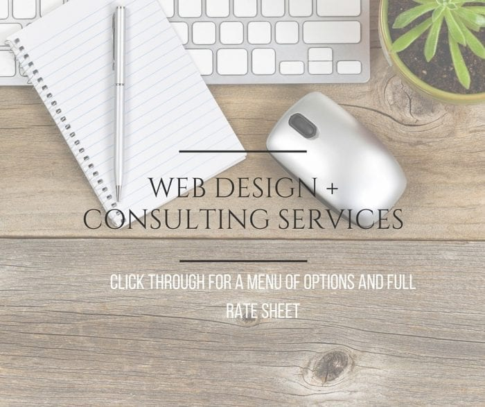 blogging + web design