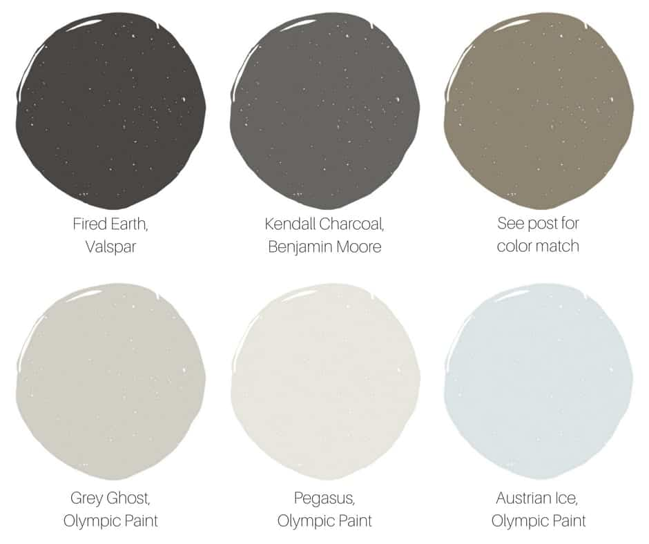 Interior Paint Swatches with Brand Names by SnazzyLittleThings