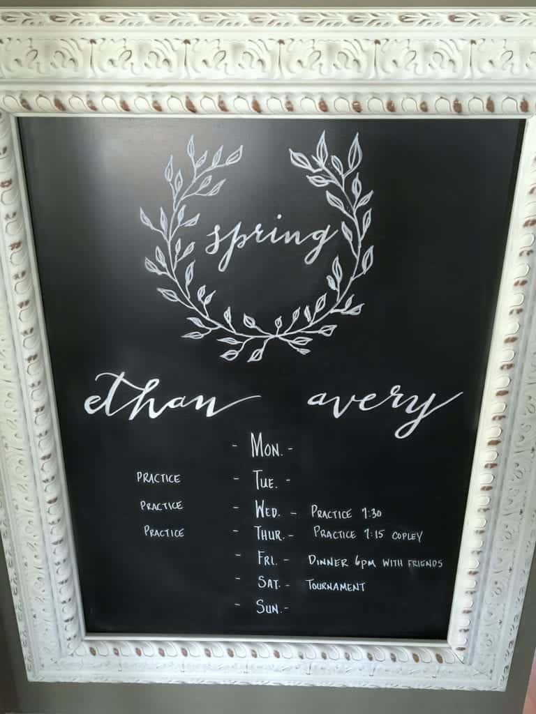 DIY Chalkboard Art by SnazzyLittleThings