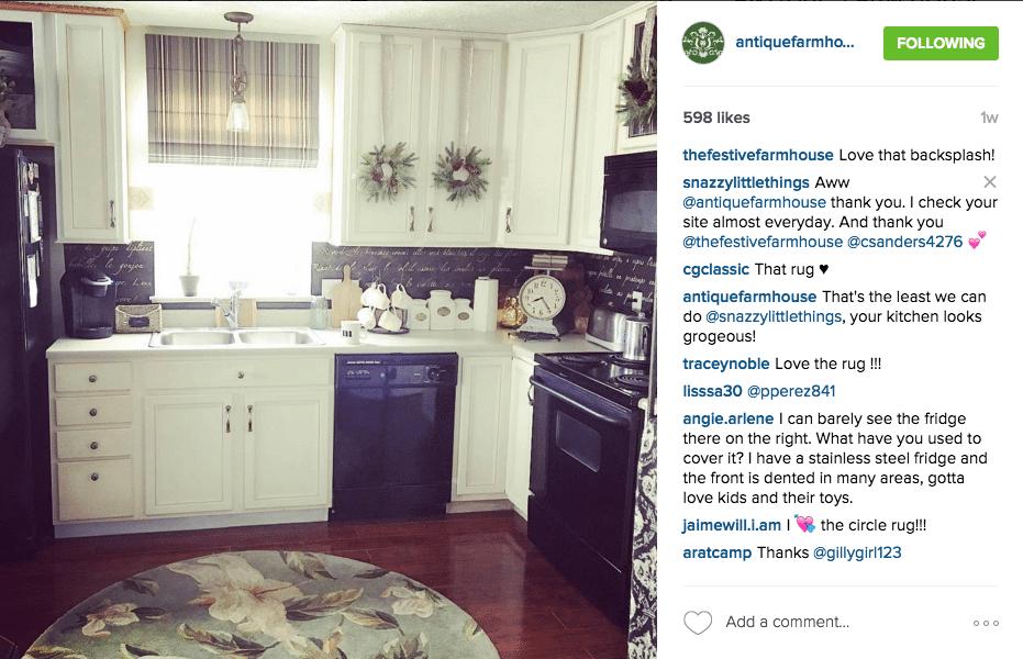 Kitchen with Round Magnolia Rug