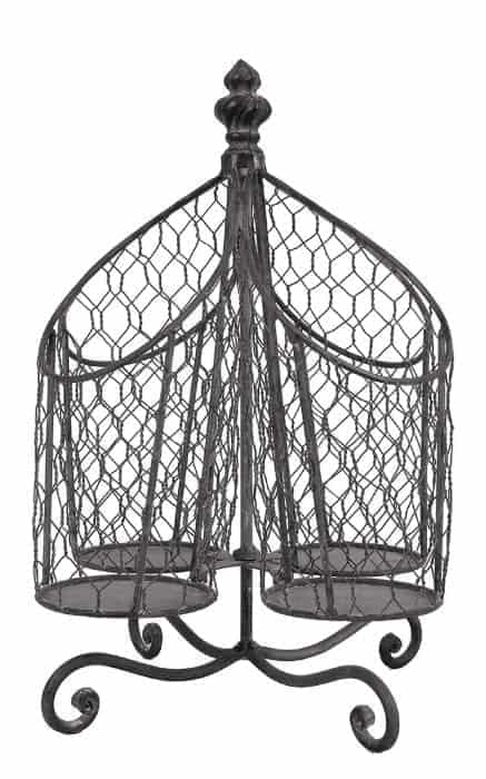 HGTV Inspired Decor on Amazon tin and wire basket