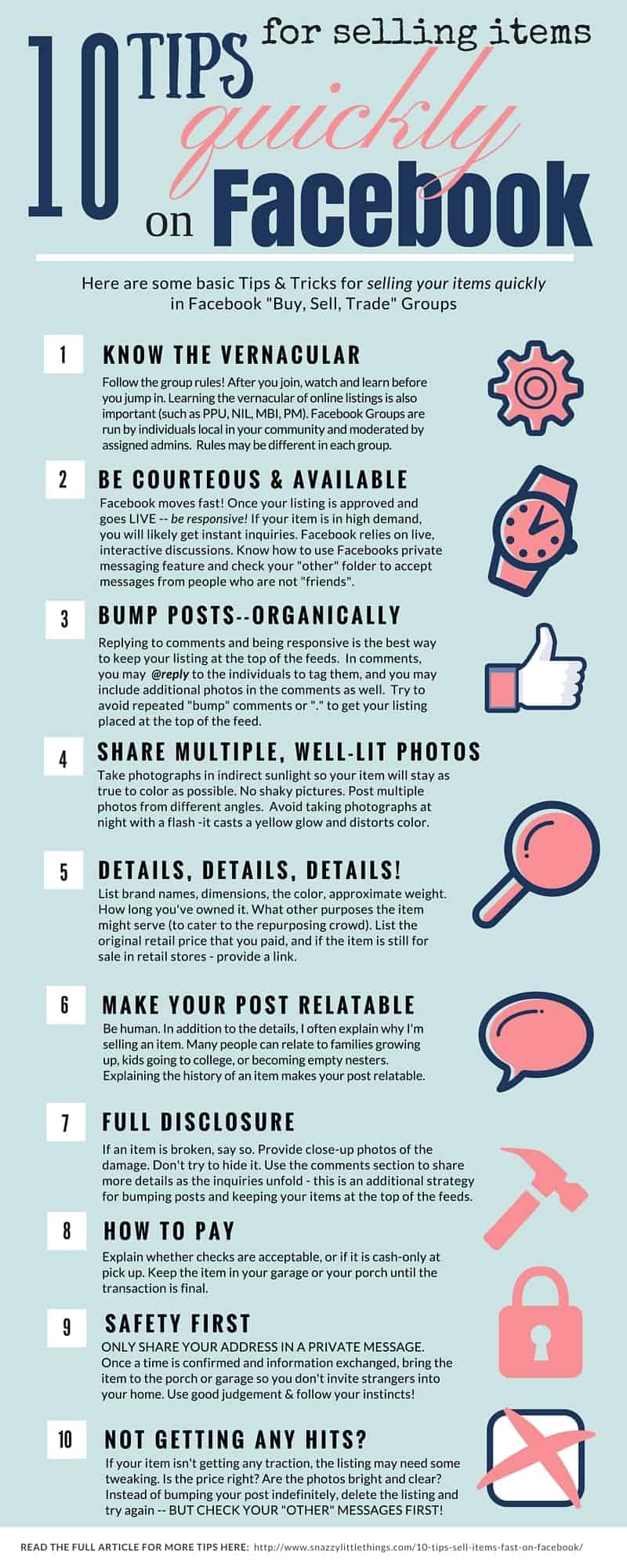 10 Tips for Selling Items Fast on Facebook