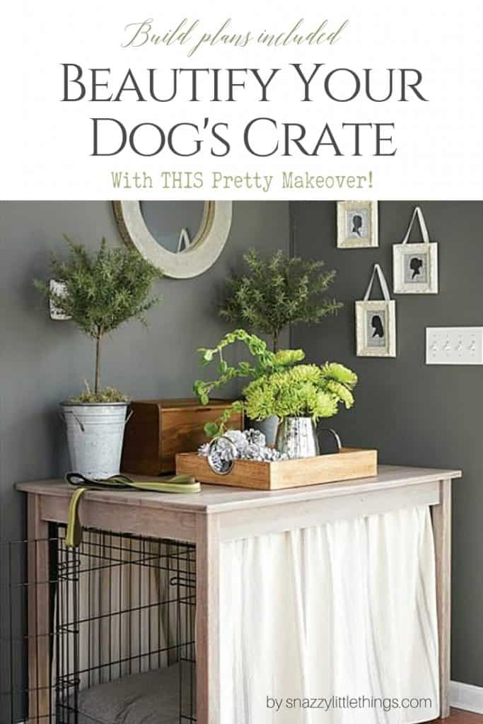DIY Dog Crate Hack Farmhouse Table Makeover with Tension Rods
