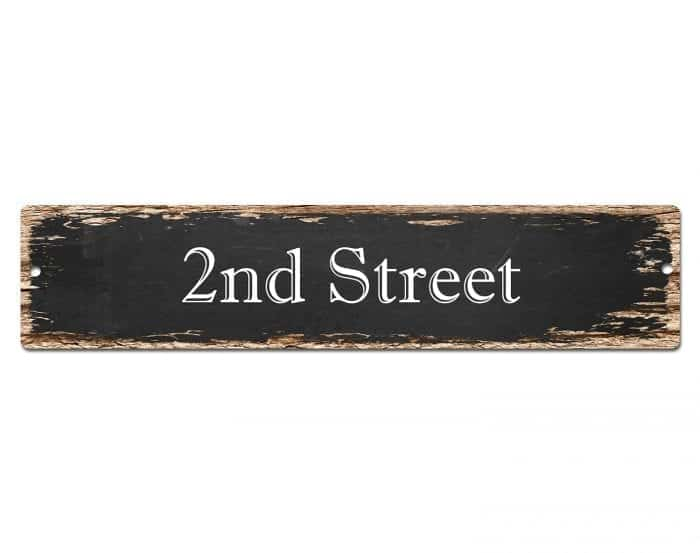 Dress up your gallery walls 10 items under 20 dollars, Distressed Street Sign