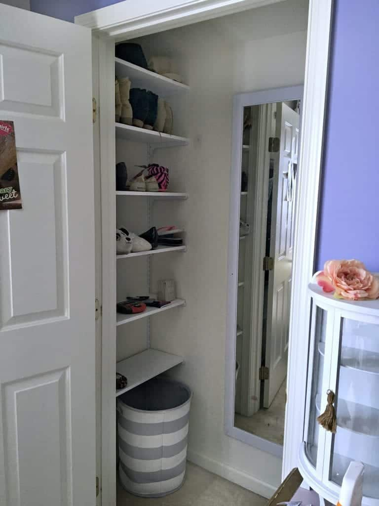 Closet Makeover Added Shelving