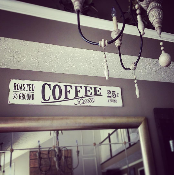 Coffee Sign in Dining Area Summer Home Tour 2016