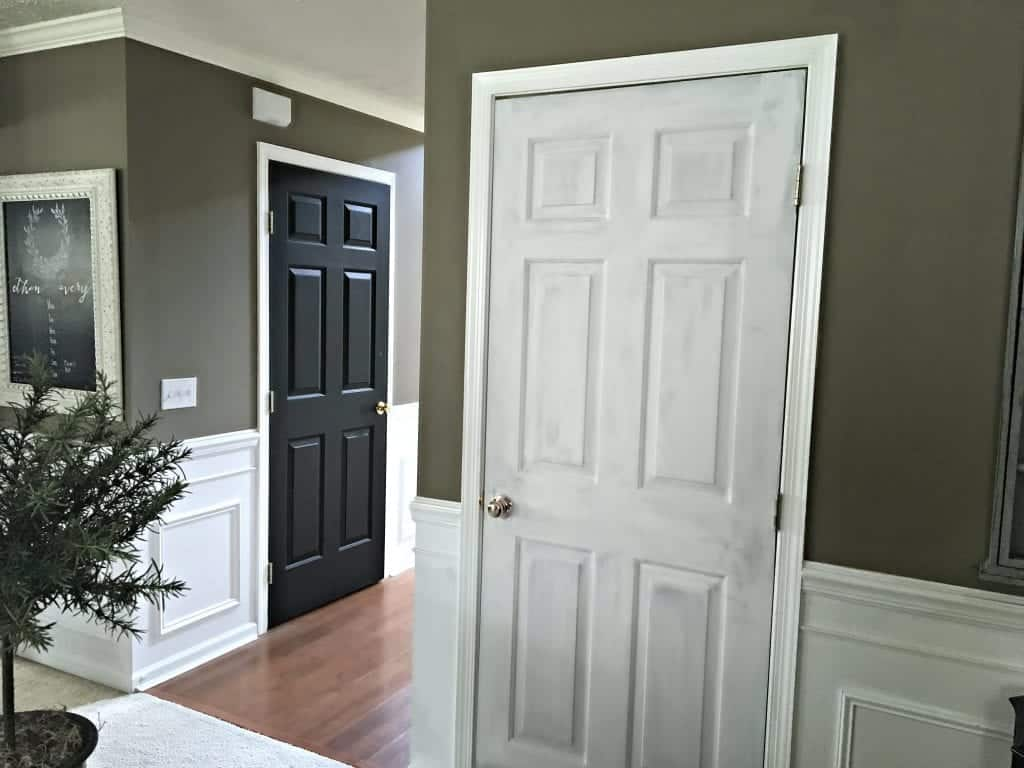 Interior Paint Project Black or White Doors