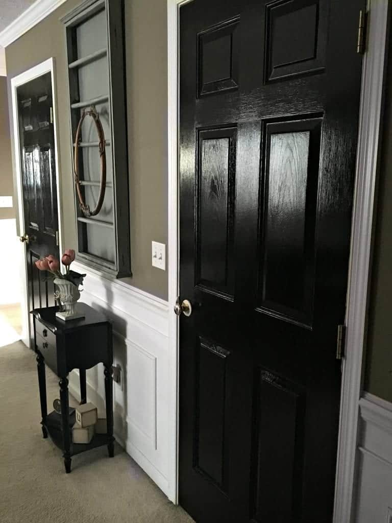 Black Interior Doors from Master Bedroom by SnazzyLittleThings