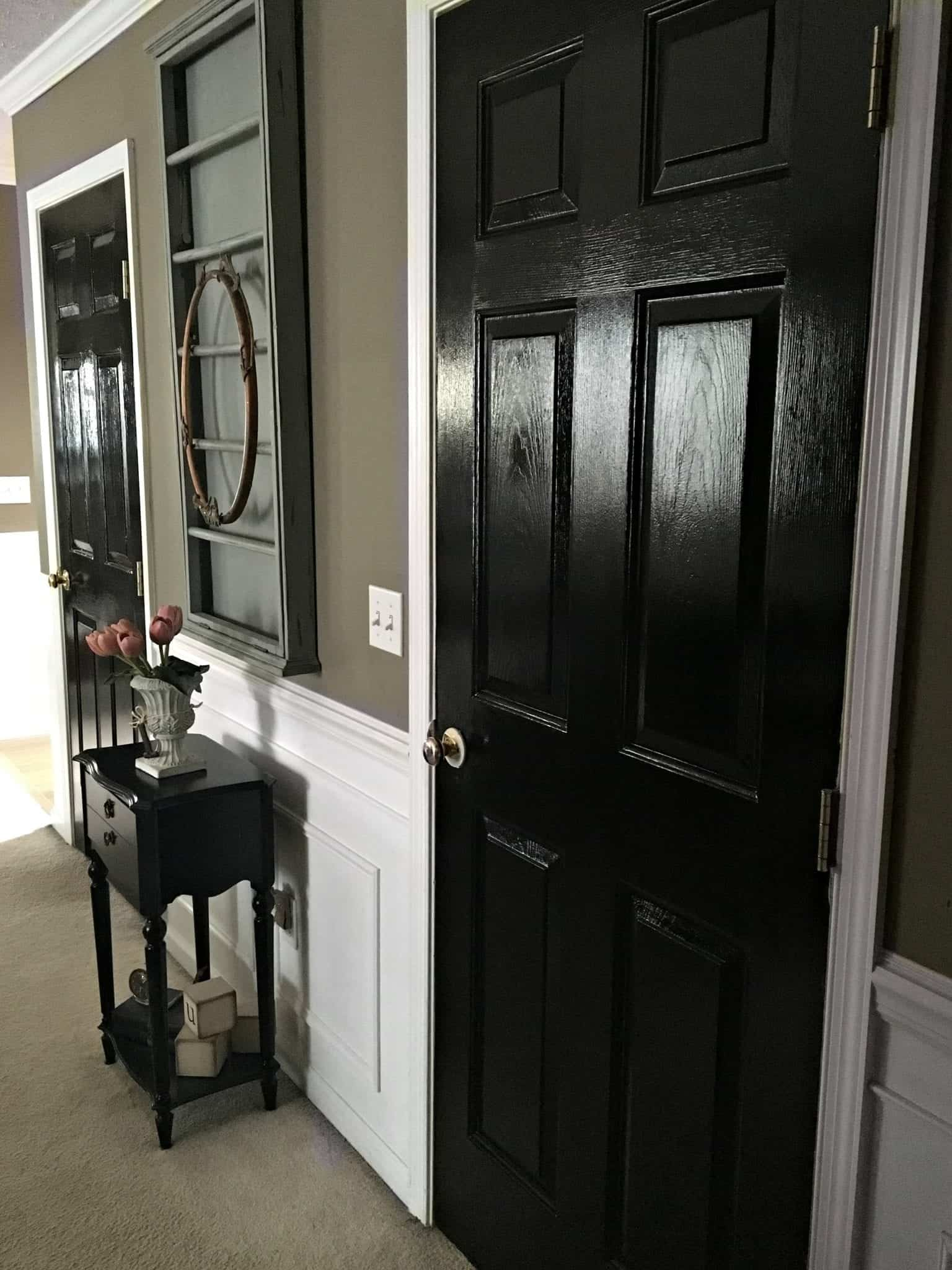 Black Interior Doors: My Favorite Paint | snazzy little things