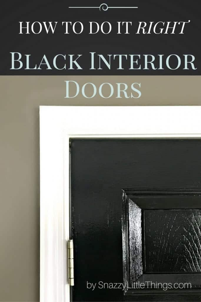 Glossy Black Interior Doors by SnazzyLittleThings.com