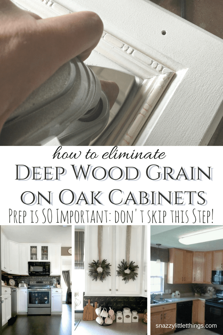 How To Eliminate Wood Grain On Your Cabinets