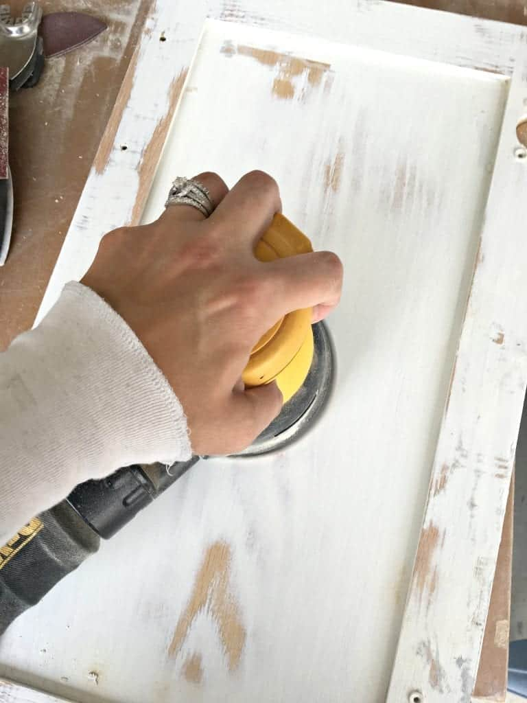 Sanding Cabinets by SnazzylittleThings