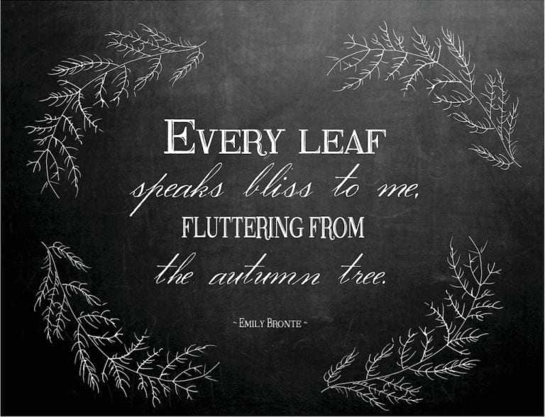 Autumn Chalkboard Printable